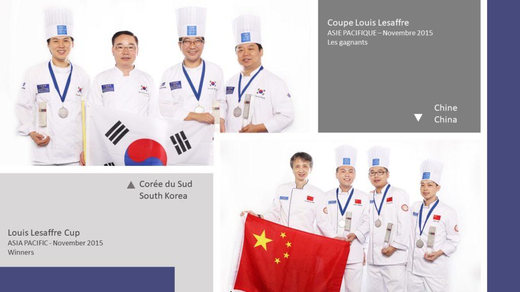 Gagnants Winners Coupe Louis Lesaffre Asia 2015